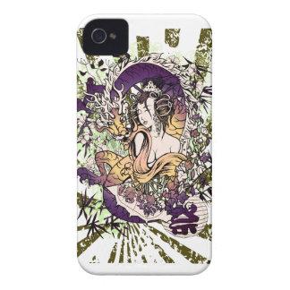 Trono del juego del dragón del geisha de Wellcoda Funda Para iPhone 4 De Case-Mate