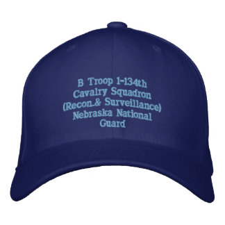 Troop B 134th Cav. Embroidered Baseball Hat