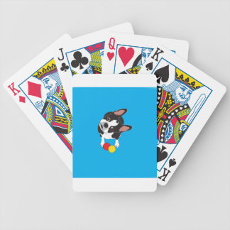 Trooper the Boston Terrier Bicycle Playing Cards