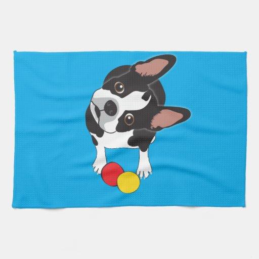 Trooper the Boston Terrier Towel