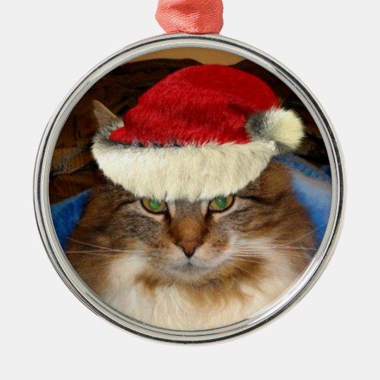 """""""Trooper The Cat"""" Santa Ornament"""