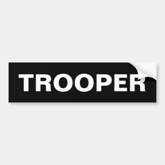 TROOPER - White Logo Bumper Sticker
