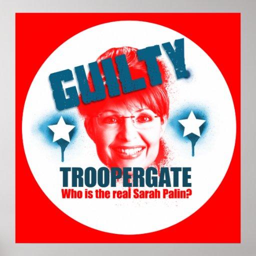 Troopergate Sarah Palin Guilty  Poster
