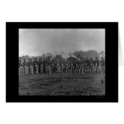 Troopers with Sabers at Brandy Station, VA 1864 Greeting Card