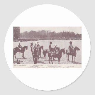 Trooping the Colour 1903 1 Classic Round Sticker
