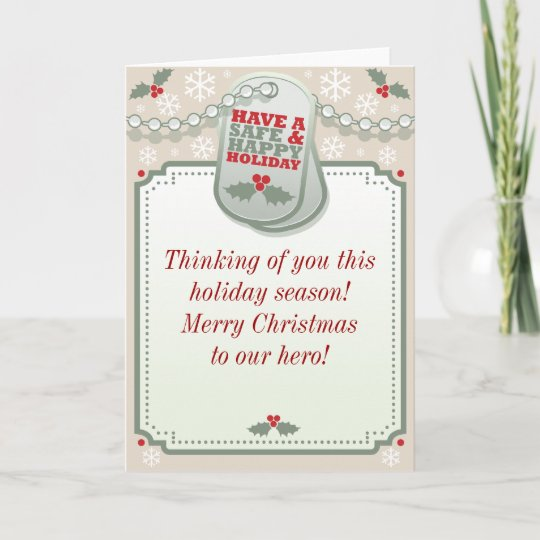 Troops dog tag holiday greeting card zazzle troops dog tag holiday greeting card m4hsunfo