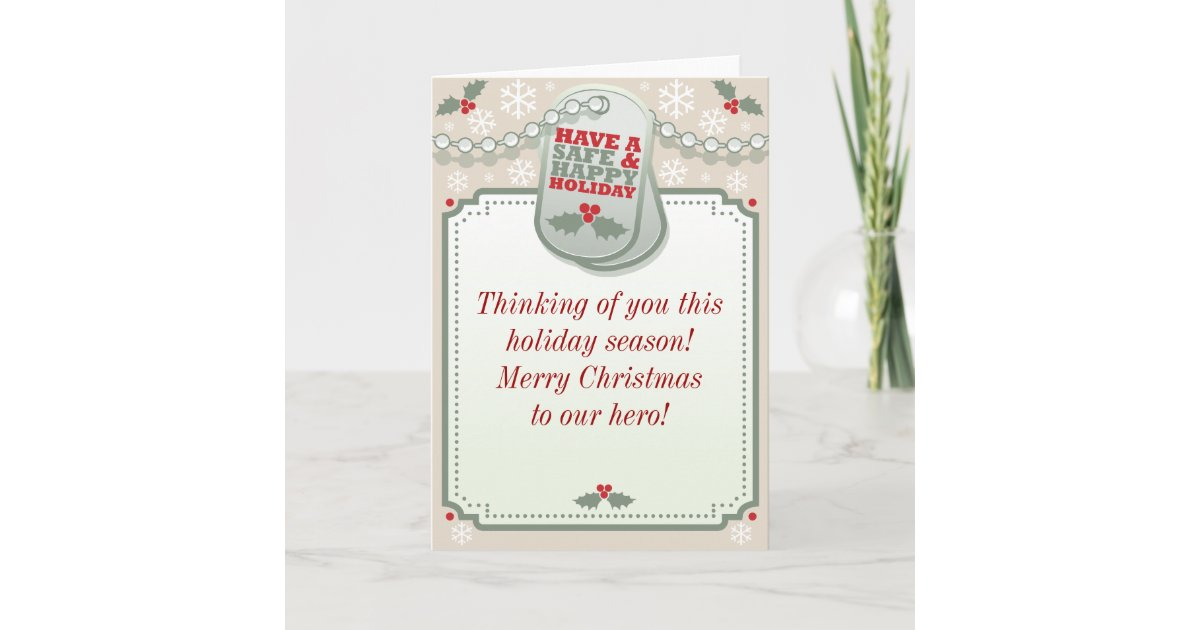 Troops dog tag holiday greeting card zazzle m4hsunfo