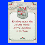 Troops Dog Tag Holiday Greeting Card