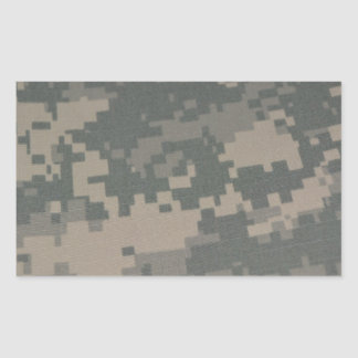 Troops Freedom Combat Boots Camouflage Pattern Rectangle Sticker