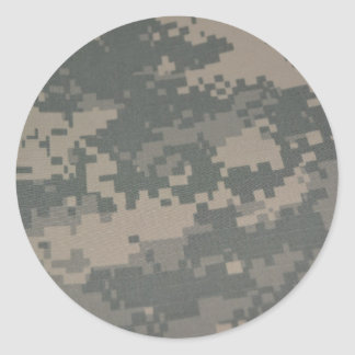 Troops Freedom Combat Boots Camouflage Pattern Round Stickers