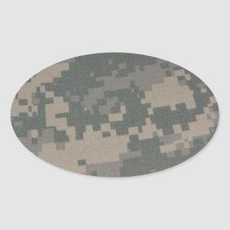 Troops Freedom Combat Boots Camouflage Pattern Oval Stickers