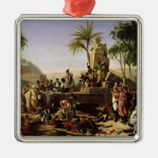 Troops halted on the Banks of the Nile Metal Ornament