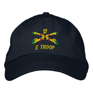 Tropa de E, gorra bordado 17ma caballería Gorra De Béisbol Bordada