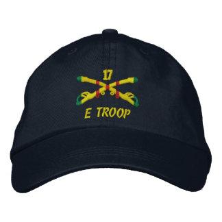 Tropa de E, gorra bordado 17ma caballería Gorra De Beisbol