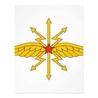 Tropas de la comunicación de URSS insignias 1936 Membrete Personalizado