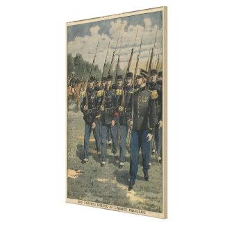 Tropas de la élite del ejército francés impresiones en lona estiradas