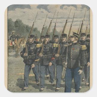 Tropas de la élite del ejército francés pegatina cuadrada