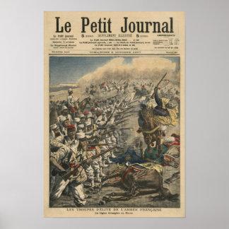 Tropas del ejército francés franceses de la élite impresiones