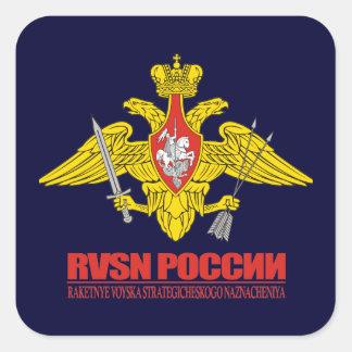 Tropas estratégicas del misil del ruso calcomania cuadradas personalizada