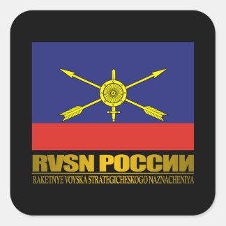 Tropas estratégicas del misil del ruso colcomanias cuadradas