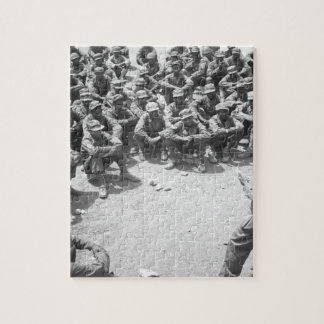Tropas etíopes que entrenan en la imagen de puzzle