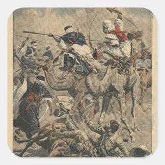 Tropas francesas en Sáhara Pegatina Cuadrada