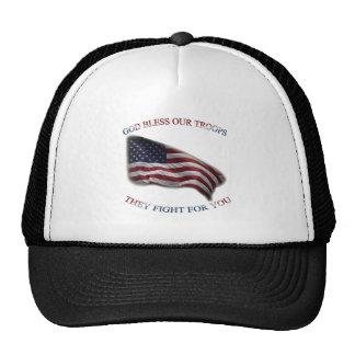 tropas patrióticas de la ayuda gorras de camionero
