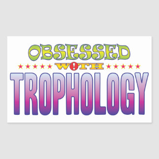 Trophology 2 Obsessed Rectangular Sticker