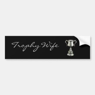 trophy1, esposa           del trofeo pegatina para auto