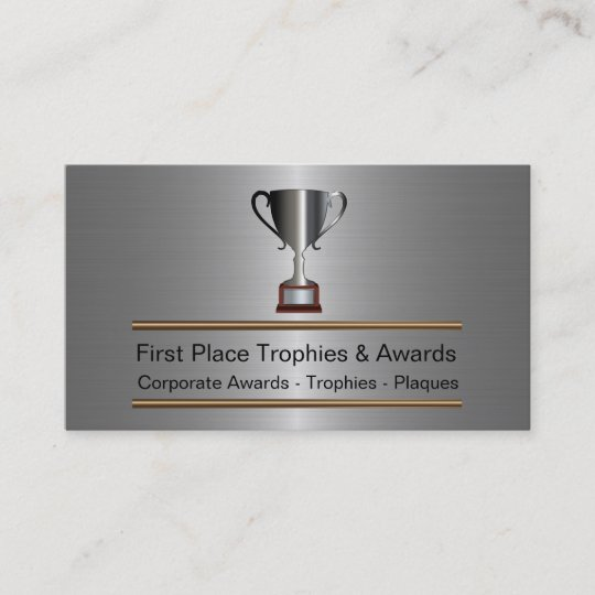 Trophy and awards business cards zazzle trophy and awards business cards colourmoves