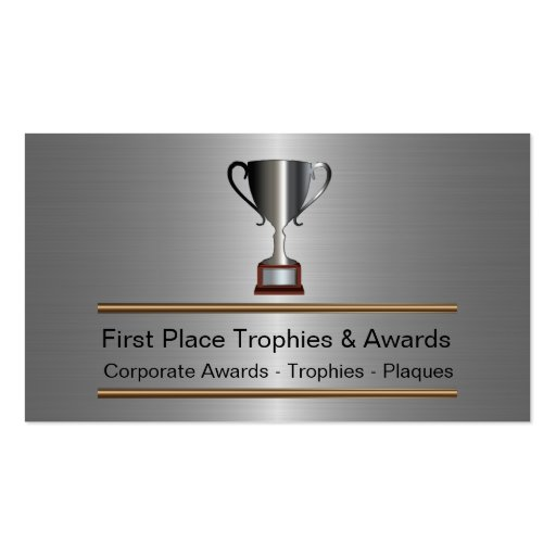 Trophy and awards business plan