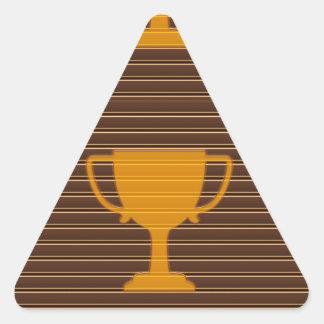 Trophy Award Cup Winner Success NVN278 Sports GIFT Triangle Sticker