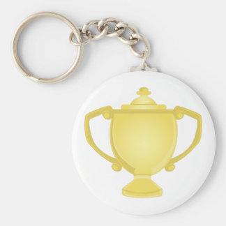 Trophy Basic Round Button Keychain