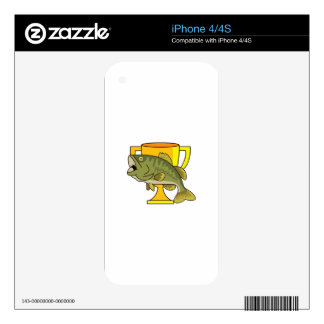 TROPHY BASS DECAL FOR THE iPhone 4