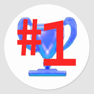Trophy Blue Cup jGibney The MUSEUM Zazzle Gifts Classic Round Sticker