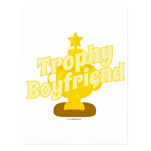 Trophy Boyfriend Postcard