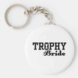 Trophy Bride Basic Round Button Keychain