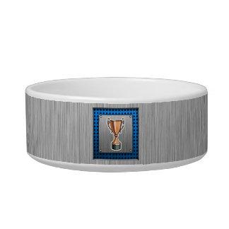Trophy; Brushed Metal-look Bowl
