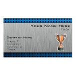Trophy; Brushed Metal-look Business Cards
