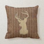 Trophy Buck on Herringbone Pillow