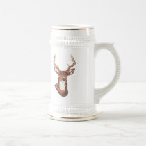 Trophy Buck Rack Mount Beer Stein