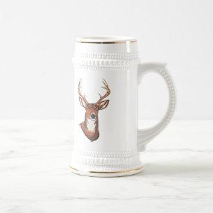 Trophy Buck Rack Mount Beer Stein