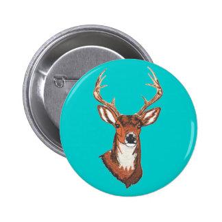 Trophy Buck Rack Mount 2 Inch Round Button