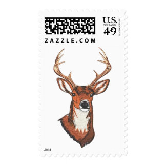 Trophy Buck Rack Mount Postage Stamps
