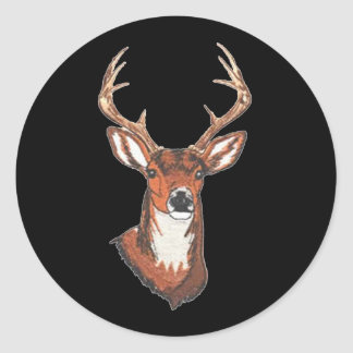 Trophy Buck Rack Mount Classic Round Sticker