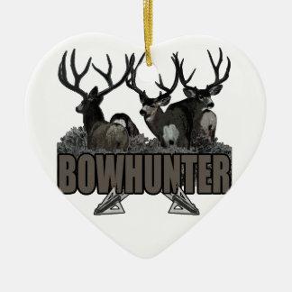 Trophy Bucks Bowhunter Ceramic Ornament