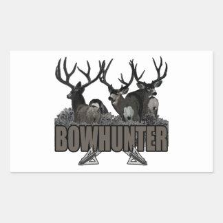 Trophy Bucks Bowhunter Rectangular Sticker
