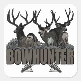 Trophy Bucks Bowhunter Square Sticker