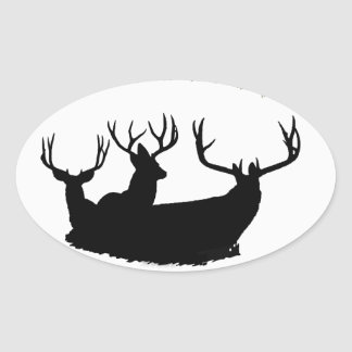 Trophy bucks oval sticker