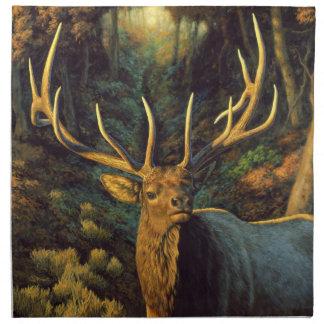 Trophy Bull Elk in Autumn Cloth Napkin